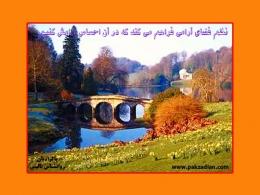 تابلوی :  نظم فضای آرامی فراهم می آورد که در آن احساس آرامش کنیم  -  سایت  پاکزادیان دات کام  www.pakzadian.com